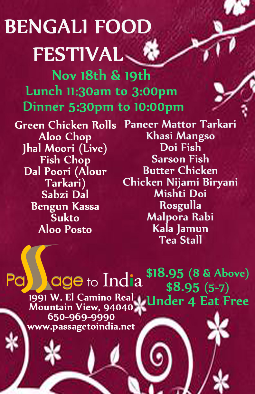 Bengali Food Festival Nov 2017