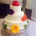 wedding cake color flower