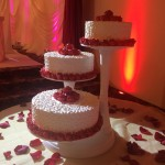 wedding cake red